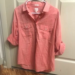 J. Crew Perfect Fit Pink Button Down